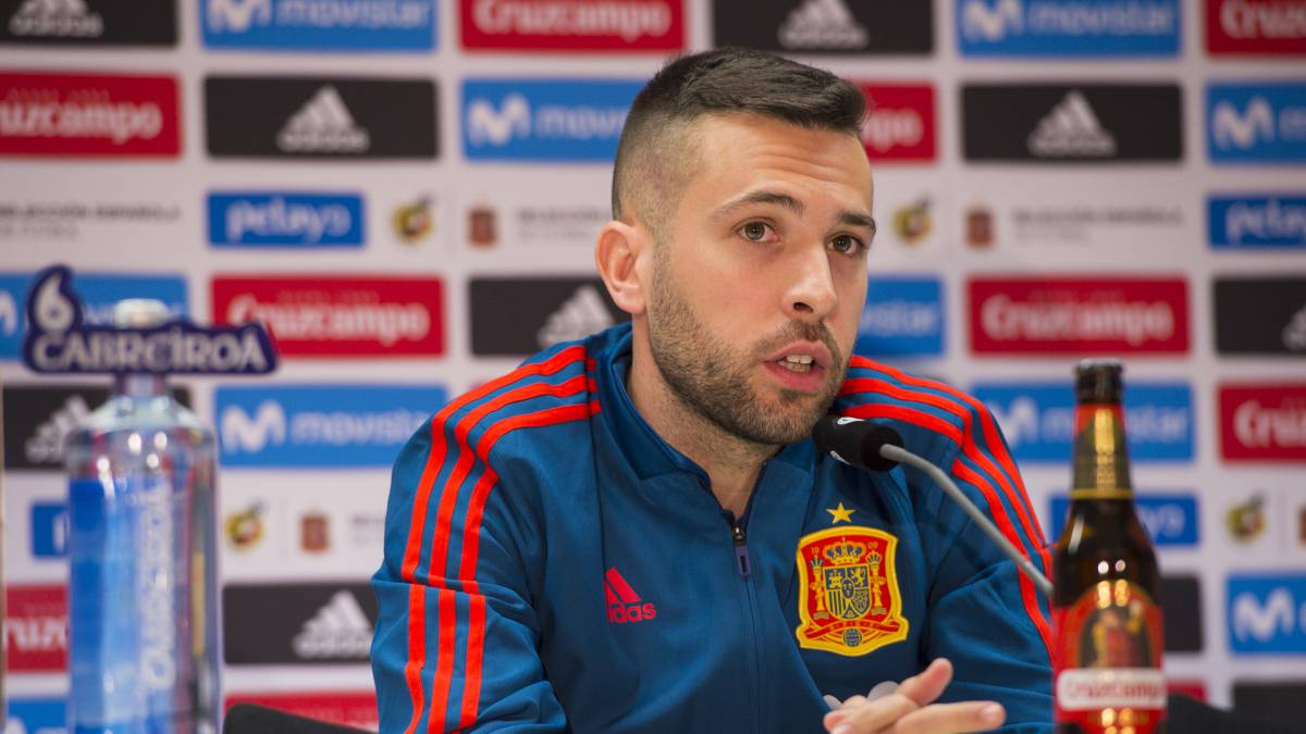 "Jordi Alba: ""Don't give us stick just yet, please"""