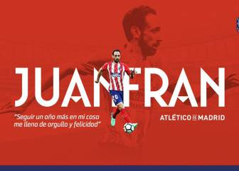 Juanfran Torres latest to renew contract with Atlético