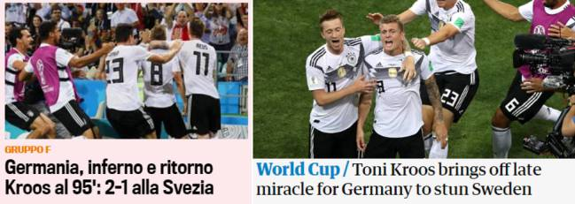 Portadas digitales de La Gazzetta dello Sport y The Guardian.