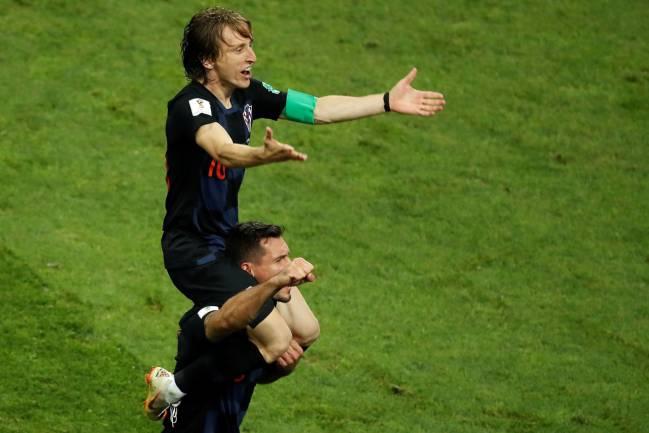 Modric, estrella de Croacia