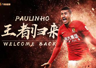 Official: Paulinho returns to China