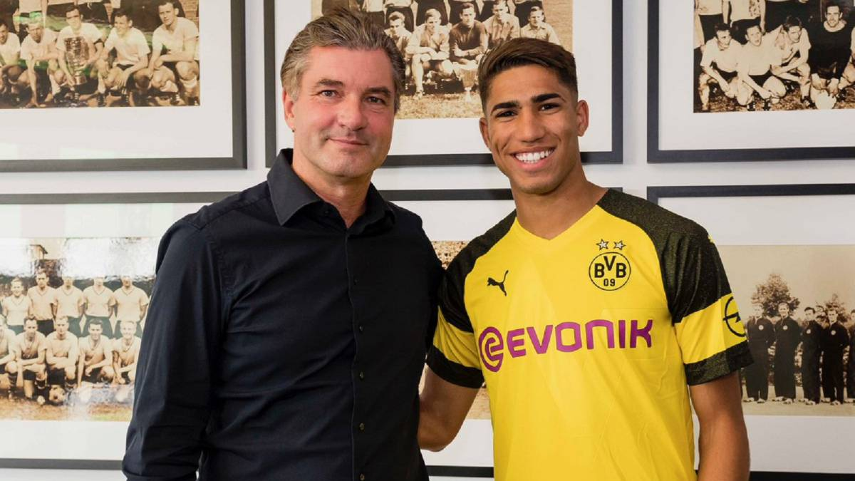 Achraf Hakimi begins two-year loan at Borussia Dortmund