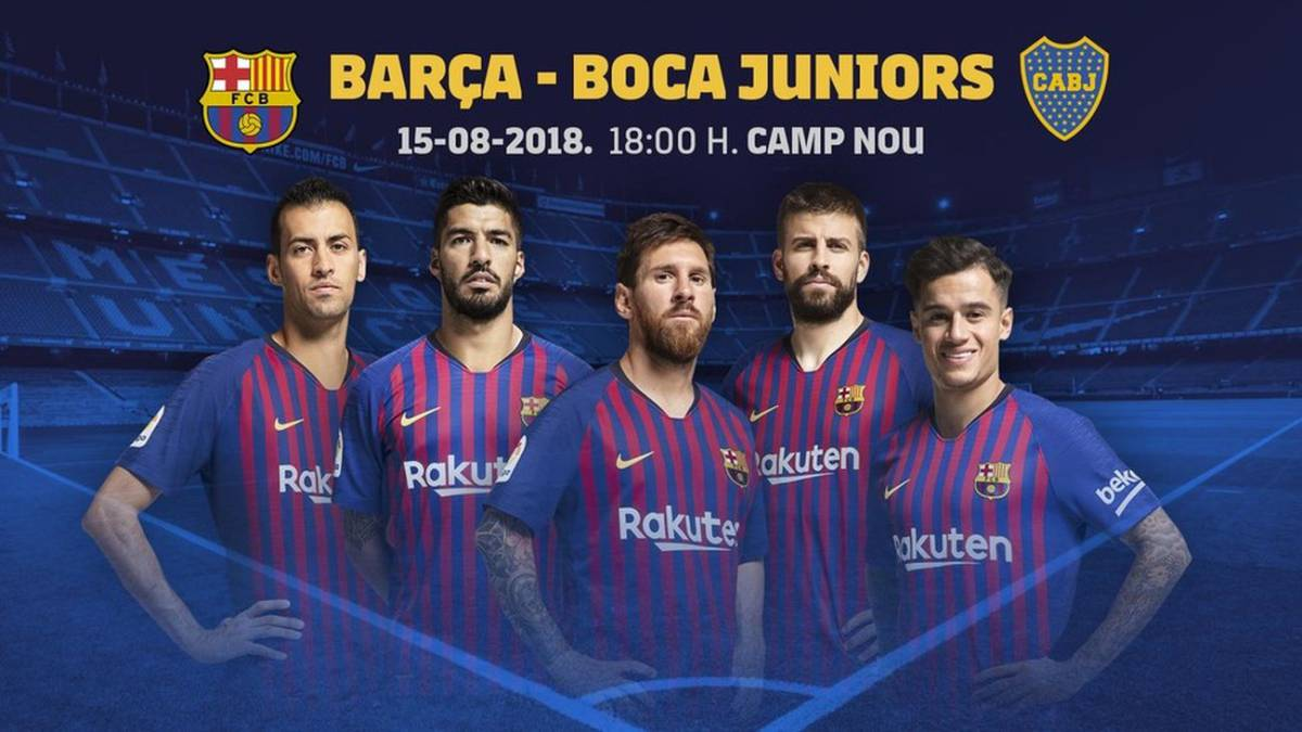 Boca jugará contra el Barcelona de Messi en el Camp Nou, por la Copa Joan Gamper