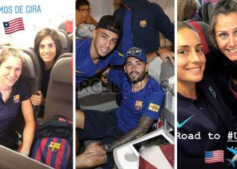 Did Barça men travel in business and women in economy?