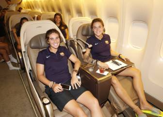 Barça arrive in LA: the women's team flew Business Class