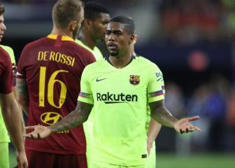 Malcolm off the mark but Roma ravage Barça's second string