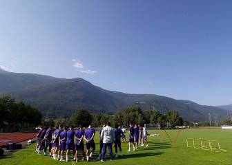 Atlético swap blistering Madrid for balmy conditions in Italian Alps