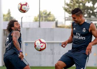 Marcelo joins up with Casemiro as the pair kickstart their preseason