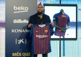 Arturo Vidal's first day as a Blaugrana - in pictures