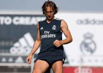 Modric back training while waiting for Florentino to return