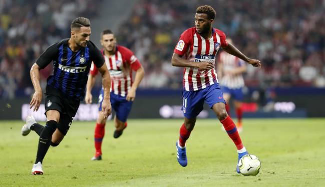 Lemar con el Atlético contra el Inter.