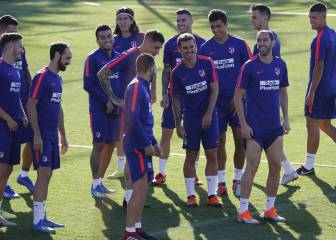 Griezmann and Rodri in Simeone's starting XI during training ahead of Super Cup