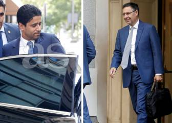 PSG and Barça presidents, Al Khelaifi and Bartomeu meet in Madrid