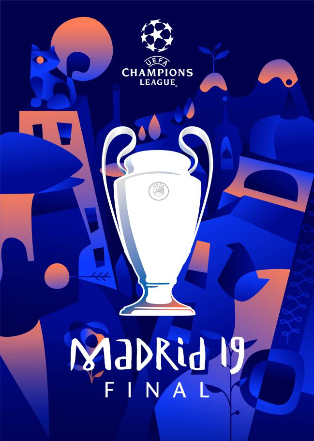 Uefa Unveil Madrid Final Champions League Poster AS Com