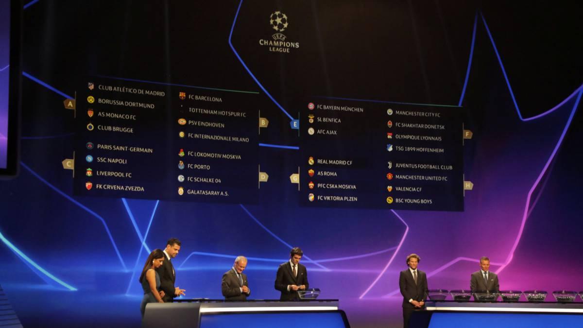 Sorteo de Champions League  así quedan los grupos - AS.com cb523cf77566c