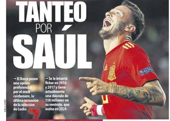 Catalan media say Barça keen on signing Atlético's Saúl