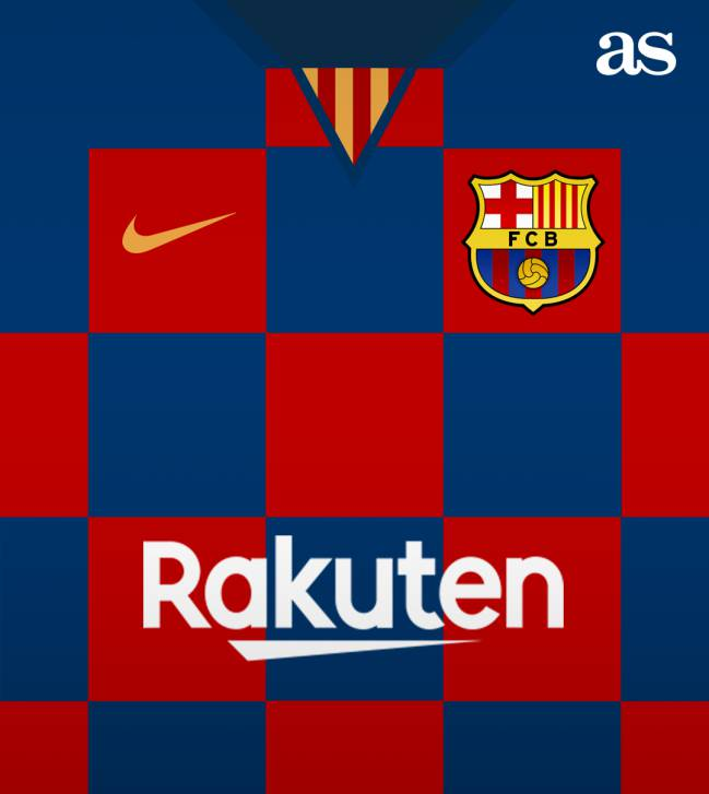 save off 833db 7faa7 Barcelona 2019/20 shirt: Croatia-style checkerboard design ...