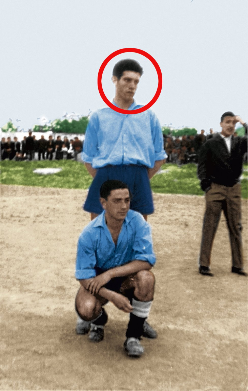 Luis Aragonés. Jugó con el Getafe la temporada 1957-58 y vistió la camiseta del Atlético de Madrid desde 1964 hasta 1974.