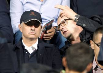 Mourinho watches Milinkovic-Savic and Milenkovic in action