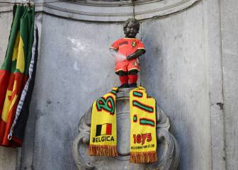 Iconic Brussels Manneken Pis to wear Atleti colours on Saturday