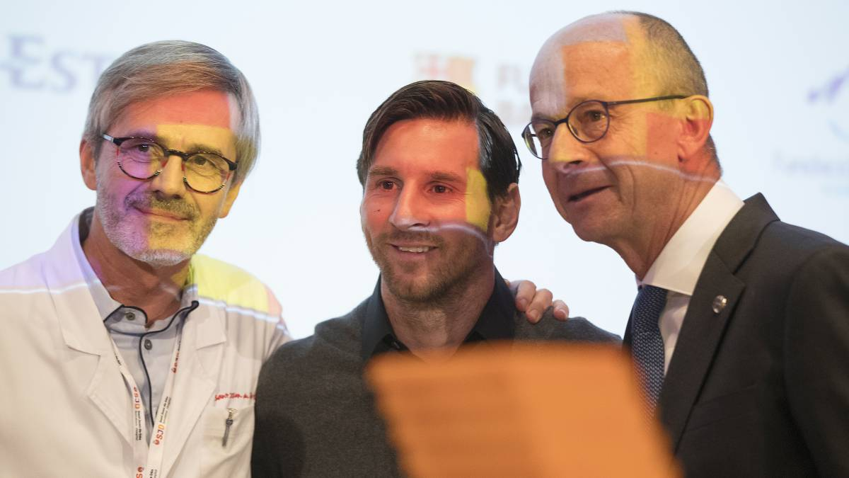 "Messi: ""I'm very happy to be able to help in the battle against cancer"""