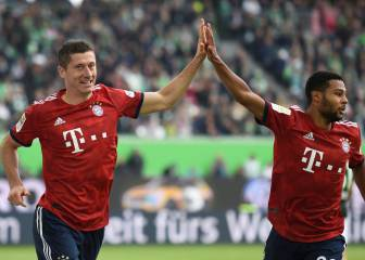 Lewandowski brace for Bayern respite as Robben sees red