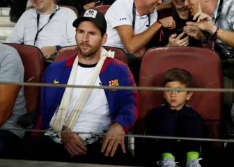 Messi back at the Camp Nou