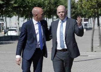 Infantino backs Rubiales against Tebas' Miami LaLiga game