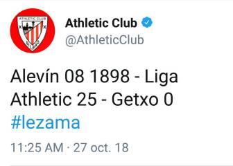 Athletic under fire for posting 25-0 thrashing on social media