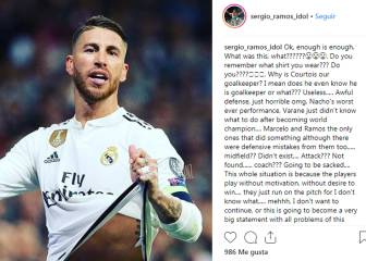Sergio Ramos likes post criticising Real Madrid team-mates