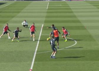 Isco conjures up lovely drag-back and goal in training