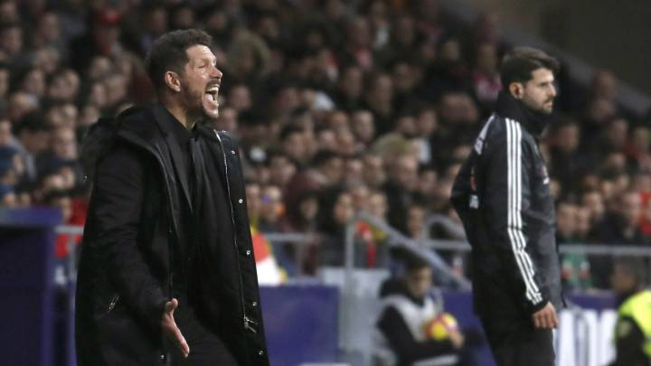 Simeone, durante el Atlético-Athletic