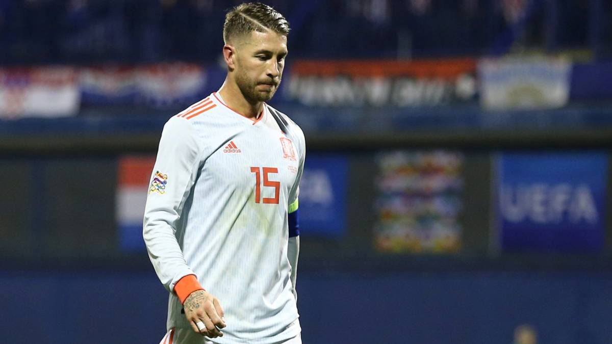 Sergio Ramos returns to Real Madrid with groin problem