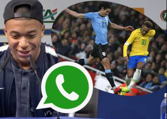 Mbappé habla del incidente de Neymar y Cavani y de su chat en Whatsapp con vídeo incluido