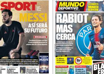 The futures of Messi and Rabiot take the Catalan front pages