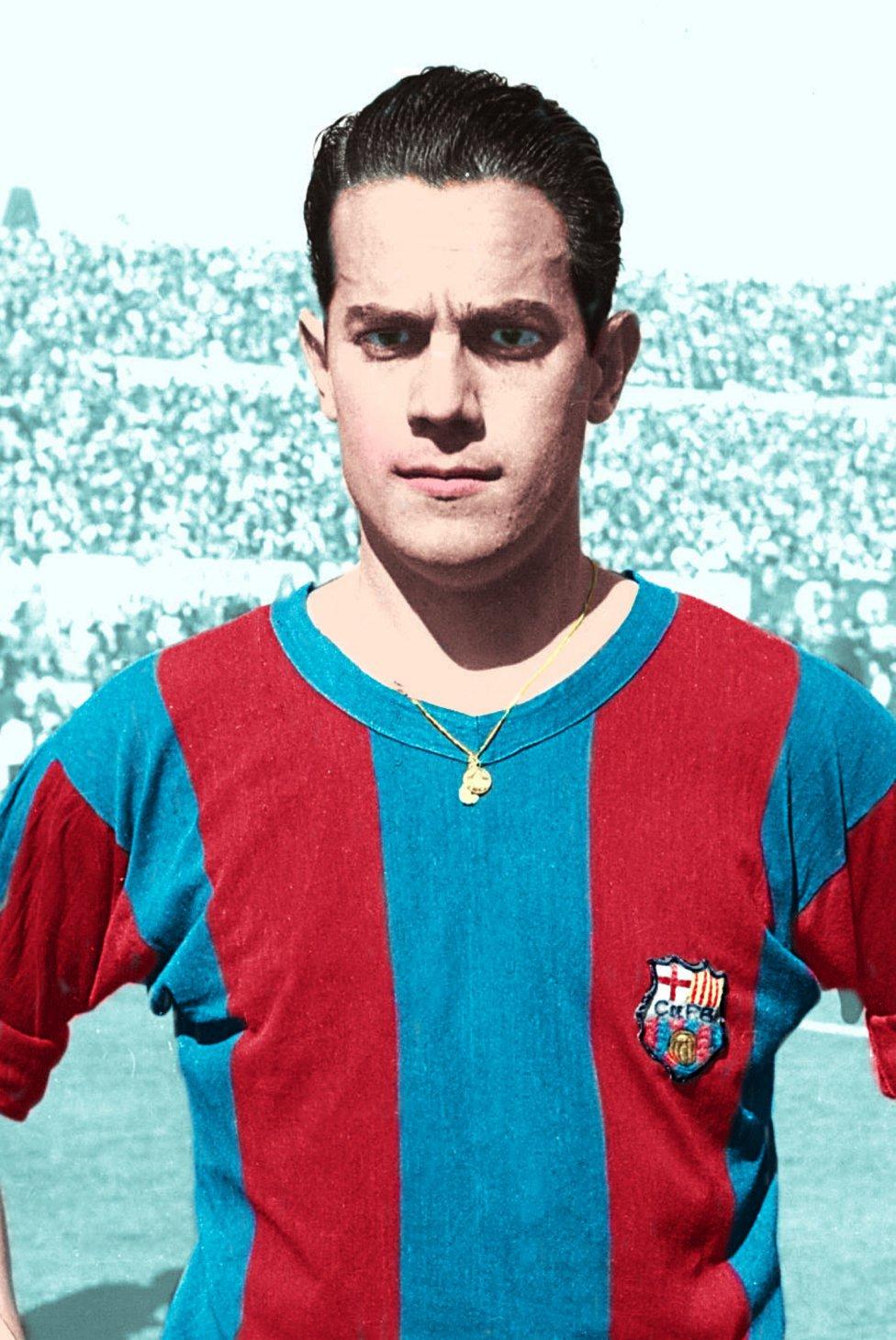 Luis Suárez. El futbolista coruñés jugó con el Barcelona desde 1954 hasta 1961. Llevó el '10' la temporada 60/61.