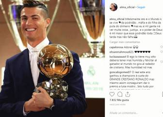 Cristiano's camp explodes at lack of Ballon d'Or win