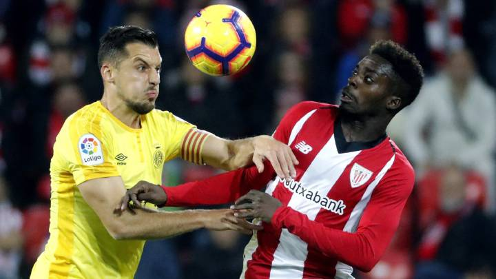 El delantero del Athletic de Bilbao, Iñaki Williams, durante un partido.