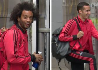 Fan animó al Madrid: Marcelo empatizó, Lucas sonrió