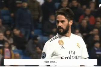 Did Isco insult the fans who were whistling him?
