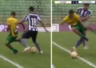 Watch: Youth player's disgraceful reaction after nutmeg embarrassment
