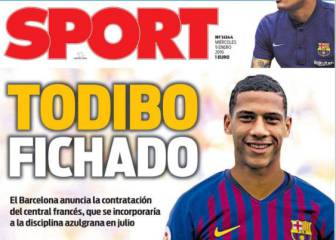Jean-Clair Todibo dominates Catalan press front pages