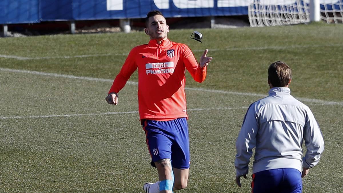 Lucas Hernández en un entrenamiento.