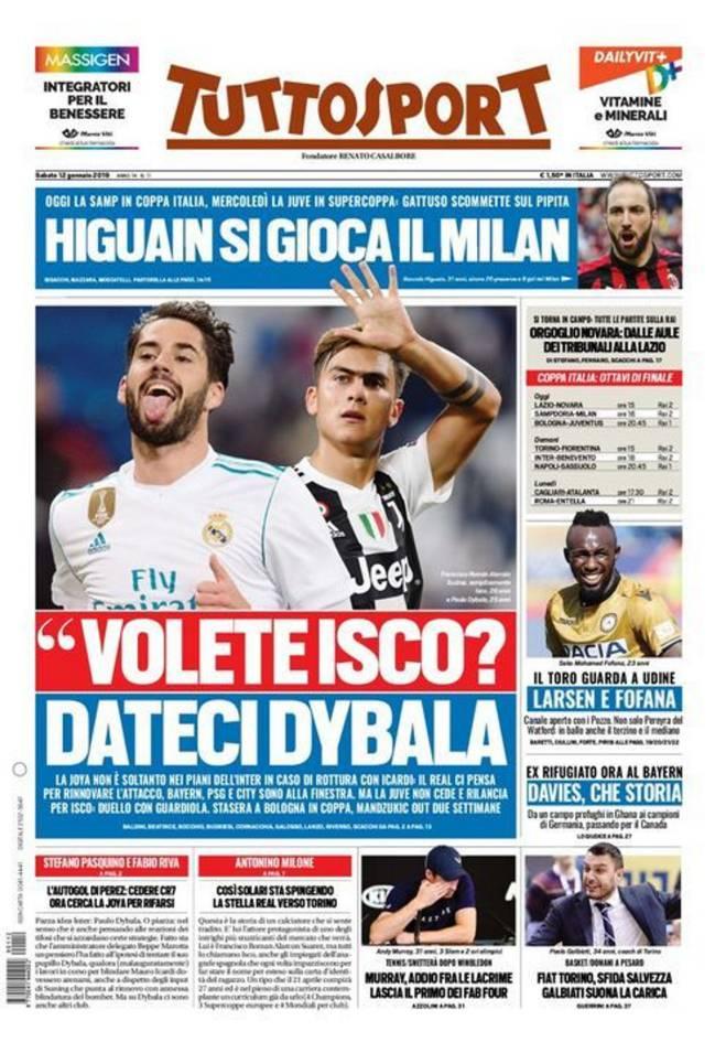 Isco ke Juventus, Paulo Dybala ke Real Madrid