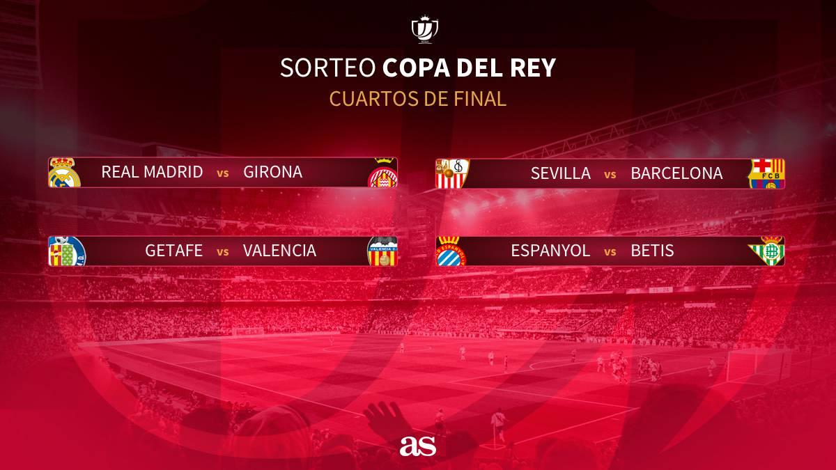 Madrid-Girona y Sevilla-Barça, en los cuartos de final de Copa - AS.com