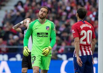 Oblak has kept 10 clean sheets in 20 league games