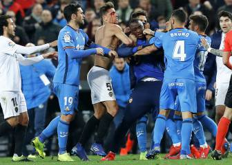 Atrocious scenes at the end of Valencia and Getafe