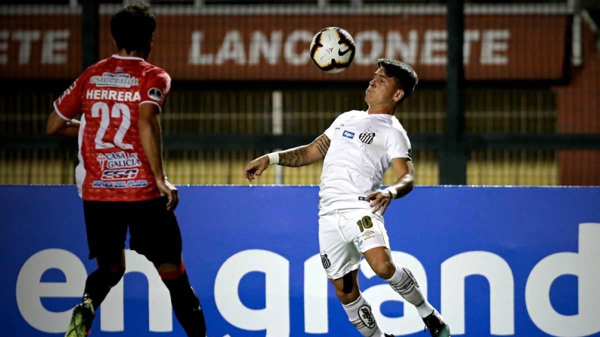 Santos 1-1 River Plate  goles 72799ee835ffa
