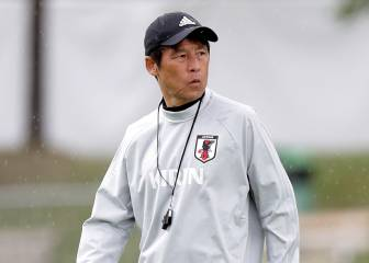 Japan's World Cup coach attends Madrid training session