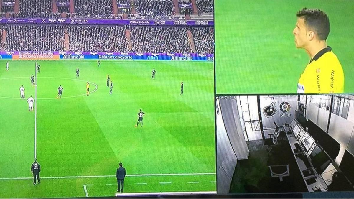 Пустая комната VAR после отмененного гола в ворота Реала - изображение 1